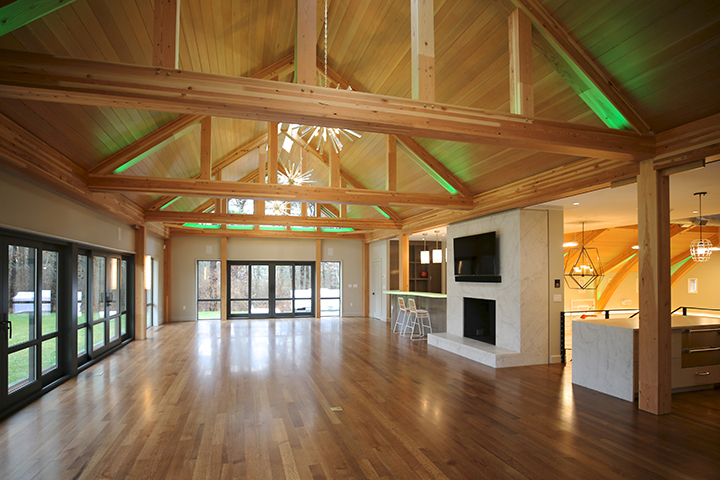PSD's Harbor View Social Barn is a contemporary project deigned and built on Cape Cod, MA